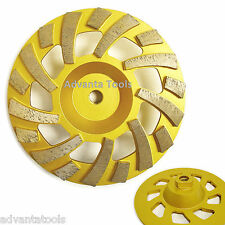 "7"" Supreme Plus Bi-Turbo Cup Wheel for Concrete 5/8""-11 Threads 25/30 Grit"