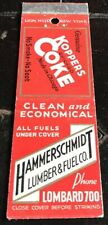 Matchbook Cover Hammerschmidt Lumber & Fuel Co. Koppers Coke Chicago