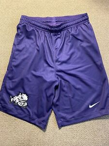 TCU Horned Frogs Men/'s Purple Poly Mesh Workout Shorts