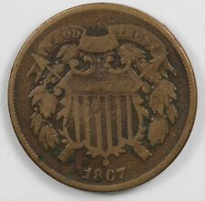 1867 Two Cent Early US Type Coin 2C