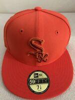 Chicago White Sox New Era League Pop Color Orange 59Fifty 5950 Hat Cap 7 1/8 NEW