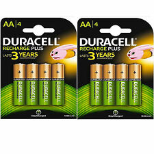 LOT 2 x 4 PILES ACCU DURACELL RECHARGEABLE AAA LR03 1.2V 1300mAh Ni-Mh BATTERIE