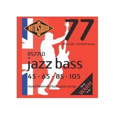 Rotosound RS77LD Jazz Bass Monel Flatwound Electric Bass 4 String Set (45-105)