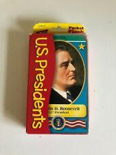 US PRESIDENTS Pocket Flash Cards Information & Activity cards 2001