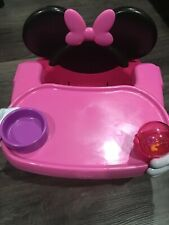Disney Pink Minnie Mouse Seat Booster High Chair Tray Feeding Portable
