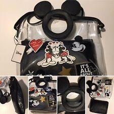 Disney Primark Mickey Minnie Mouse Bag PU CLEAR 2in1 Handbag & Cosmetic Bag New