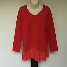 'BLUE ILLUSION' BNWT SIZE 'M' RED LAYERED LONG SLEEVE TOP