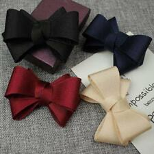 1 PAIR BOW SATIN SHOE VINTAGE STYLE GLAMOUR BOWS BRIDAL PARTY 4 COLOR