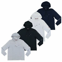 Tommy Hilfiger Mens Shirt Long Sleeve Hoodie T-Shirt Graphic Flag Logo New Nwt