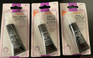 Sally Hansen Nail Cuticle Rehab Charcoal Resurfacer .4oz Exfoliator 46245 Lot 3