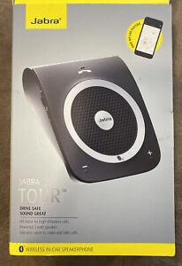 Jabra Tour Bluetooth In-Car Speaker for Music and Calls Black EUC