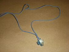 209 CROIX VERITABLE CRISTAL SVAROWSKI BLEU CIEL + CORDON 55 cm