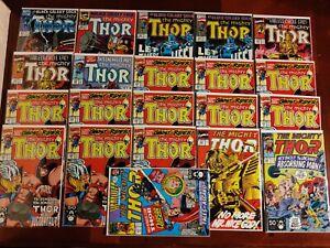 Marvel Comics Mighty Thor #421 423 424 425 426 429 435 436 437 21 Comic Book Lot
