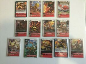 DIGIMON DECK  RED - 52 CARDS - TCG - BT4 GREAT LEGEND - UNCOMMON / COMMON