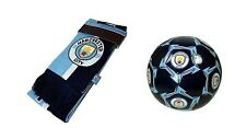Manchester City F.C. Official Soccer Size 5 Ball & Scarf 05-1