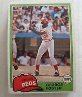 1981 Topps Cincinnati Reds George Foster #200  Lot Of 25 Ex+ - NM Mint