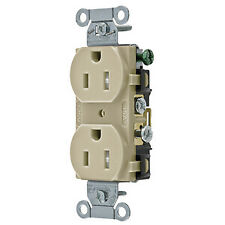 Hubbell Cr15Itr Duplex Receptacle, Ivory