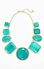 Kate Spade Swirl Around Necklace NWT Modern Blue with Mod 60's Flair! So Perfect