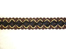 Marrón chocolate & crema silla adorno trenzado tejido tapicería ribete POR METRO