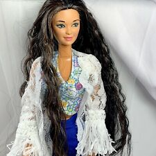 Ooak Custom Reroot Barbie Tropical Splash Kira Boho Style Doll & Outfit