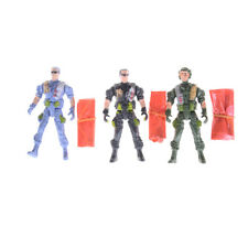 1pc 9cm Paratroopers Parachute Soldiers Miniatures Military Figures Model Toy HC