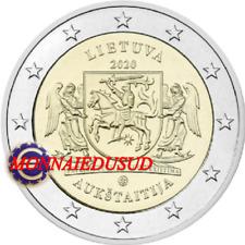 2 Euro Commemorative Lituanie 2020 - Région Aukstaitija UNC NEUVE