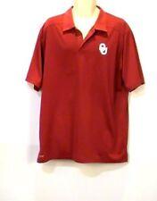 Nike Dri-Fit University of Oklahoma Sooners Ss Polo Shirt Red Size Xl