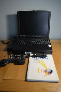 Dell Latitude XPI CD P150ST Vintage Windows 95 Laptop with PCMCIA Card and Bag