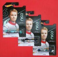 Hot Wheels     Nico Rosberg  F1 RACER   3 STÜCK    NEU&OVP