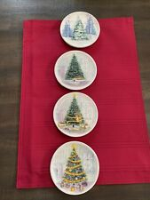 """MWW MARKET Mini Plates -How to Decorate a Christmas Tree 4 1/2"""""""