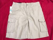Lyle & Scott Scotland Shorts Mens Size 36 Tuscany Pale Khaki Tan Beige Cargo NWT