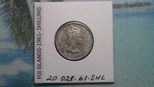 FIJI ISLANDS - 1961 SHILLING - COLONIAL ERA - PREDECIMAL COIN . Copper/Nickel.