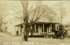 POST OFFICE IN ARMONK, NEW YORK & ORIGINAL  ca 1900's REAL PHOTO POSTCARD