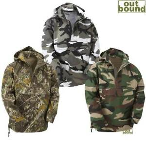 Combat Army Smock Military Style Jacket Hooded Top Snow Camo Urban Hoodie Anorak