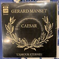 "GERARD MANSET - CAESAR - L'AMOUR ETERNEL - VINYL 7"" SINGLE - FRENCH"