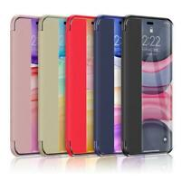 For iPhone 11 Pro Max Clear Window View Flip Leather Case Protective Cover