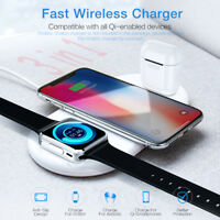 3 in 1 Wireless Charger Stand for iPhone Apple Watch Dock Airpods Chargi Station