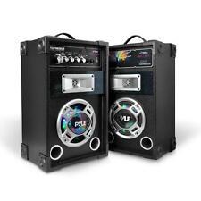 Pyle PSUFM626LED Pyle Disco Jam Dual USB AM/FM AUX  LED Stereo Speaker System