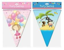 Childrens Girls Fairy Princess Or Boys Pirate Bunting Happy Birthday Decoration