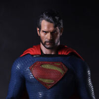 "1/6 Scale Henry Cavill Head Carving Superman Sculpt Model F 12"" Male Figure Body"