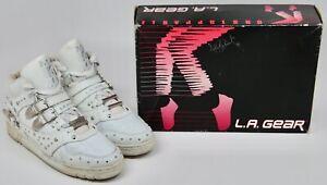 90s LA Gear WHITE Michael Jackson BILLIE JEAN Sneakers UNSTOPPABLE Women's sz 10