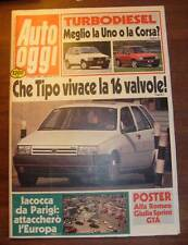 AUTO OGGI 1988 - POSTER E ARTICOLO ALFA ROMEO GIULIA SPRINT GTA AUSTIN F4 TAXI L