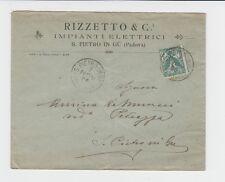 14111- Veneto, S.Pietro in Gu', Padova,Impianti elettrici Rizzetto &C.,1906