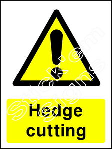 Hedge cutting - COUN0027 stickers & signs