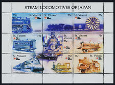 St Vincent 1495 MNH Steam Locomotives of Japan