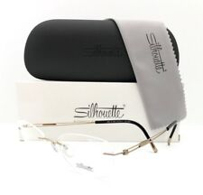 New Silhouette Eyeglasses TNG 4300 6051 Gold Titanium 51•19•140 With Case