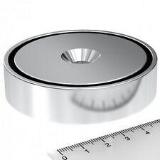 Super Magnete al Neodimio CSN-75 POTENZA 180 Kg FORO SVASATO + BASE IN ACCIAIO