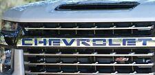 2020 Silverado 2500 / 3500 Custom front grille letter inserts CHEVROLET Blue