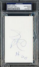 Gary Payton Signed Index Card AUTO PSA/DNA AUTHENTIC Stock Photo