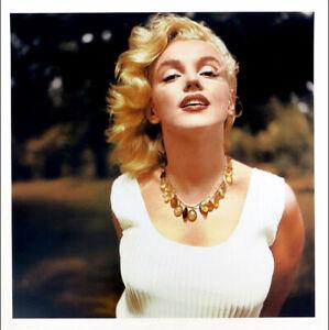 Marilyn MONROE Amber Necklace Sam Shaw Photo Print 27-1/2 x 19-1/2